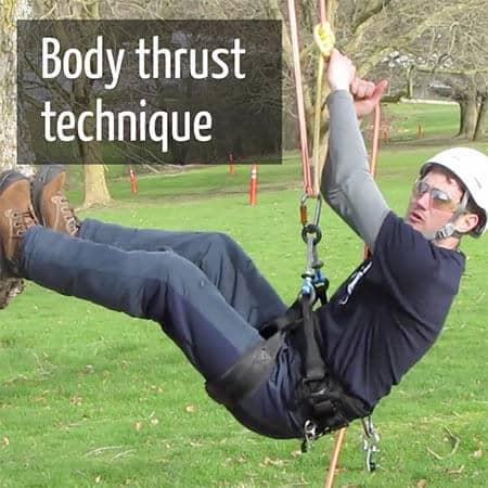 Body thrust technique