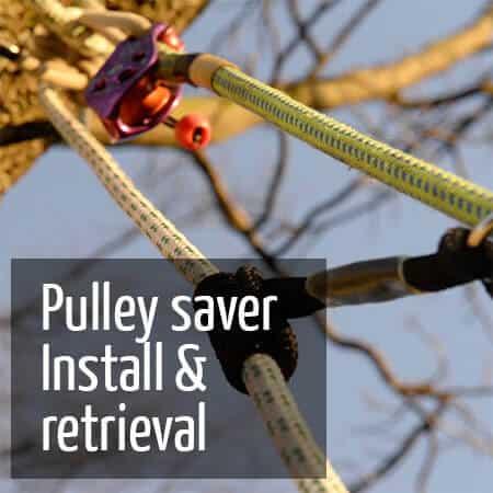 Install retrieve pulley saver