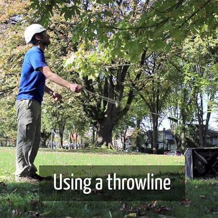 Using a throw ball