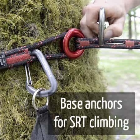 Base anchor for SRT climbing