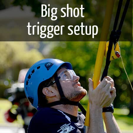Trigger setup for a 'Big shot'