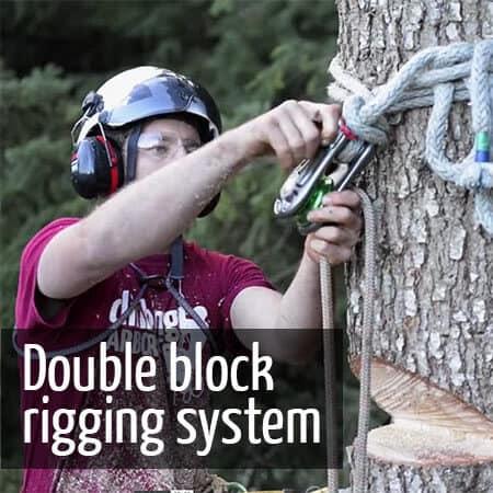 Double block rigging - ClimbingArborist.com