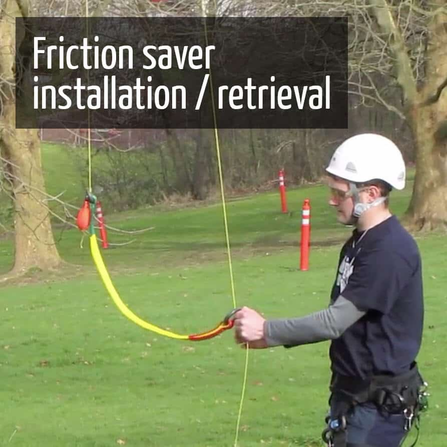 Installing/retrieving a friction saver