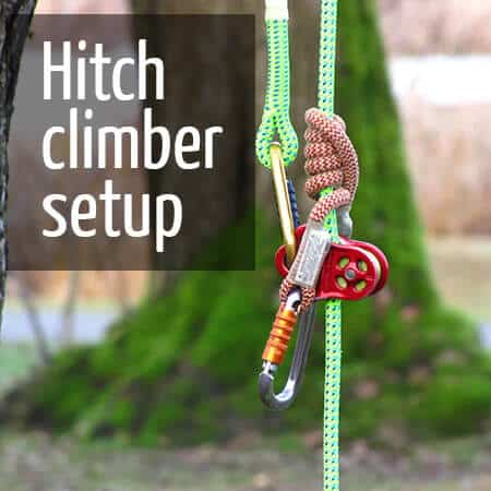 Hitch climber setup