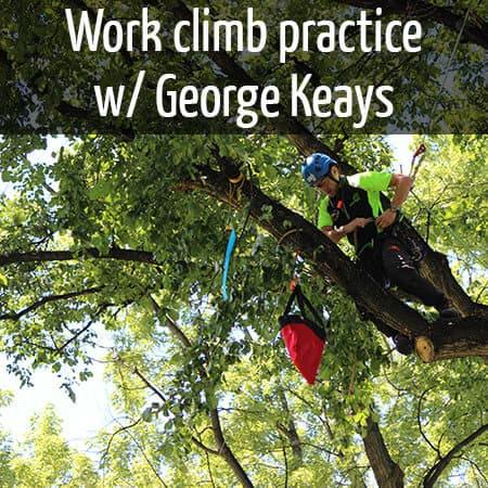 Work climb practice with George Keays