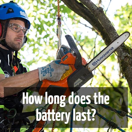 Husqvarna T536Li XP | How long will the battery last? by ClimbingArborist.com