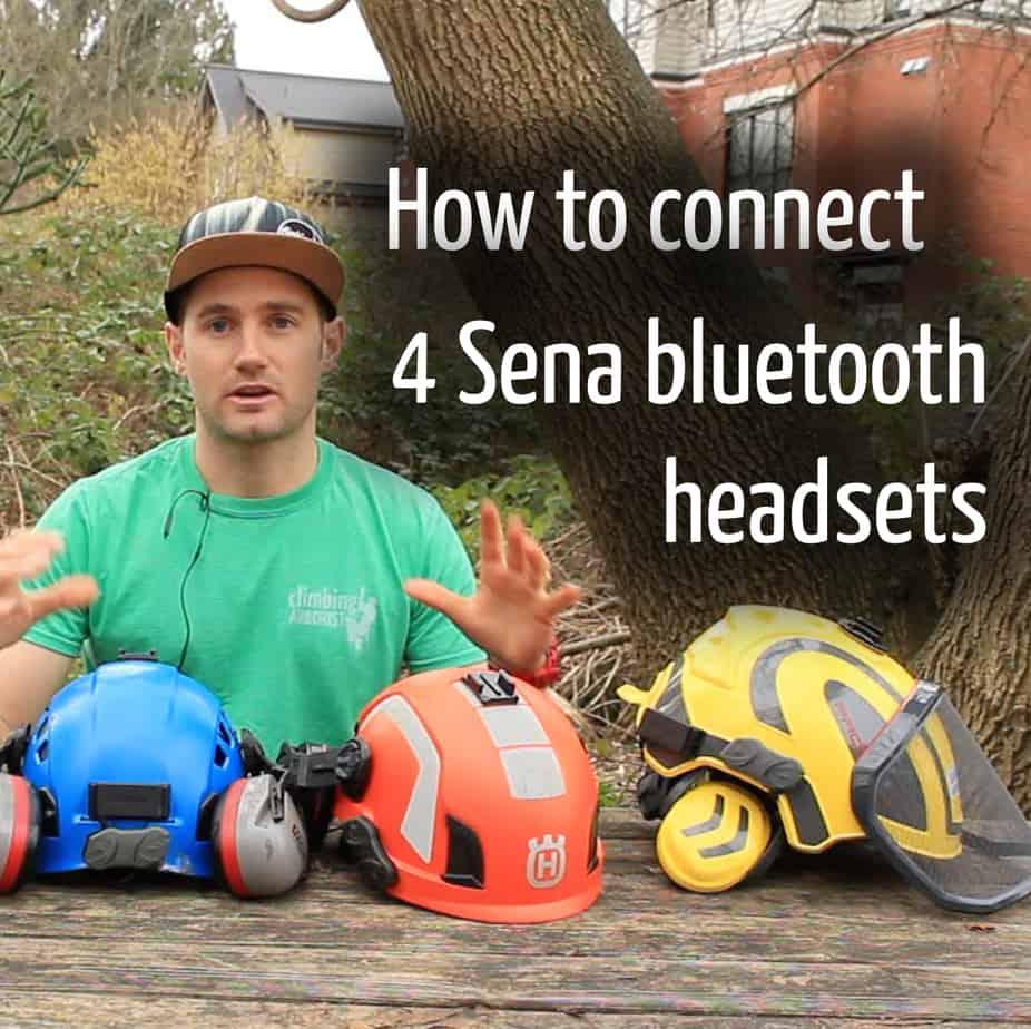 How to connect 4 sena headsets : ClimbingArborist.com