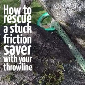 Stuck friction saver retrieval : ClimbingArborist.com