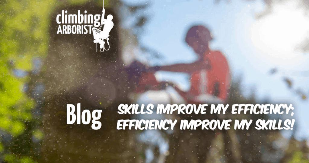 Blog - Skills improve my efficiency; efficiency improve my skills! ClimbingArborist.com