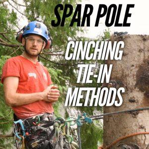 Spar pole tie-in ClimbingArborist.com